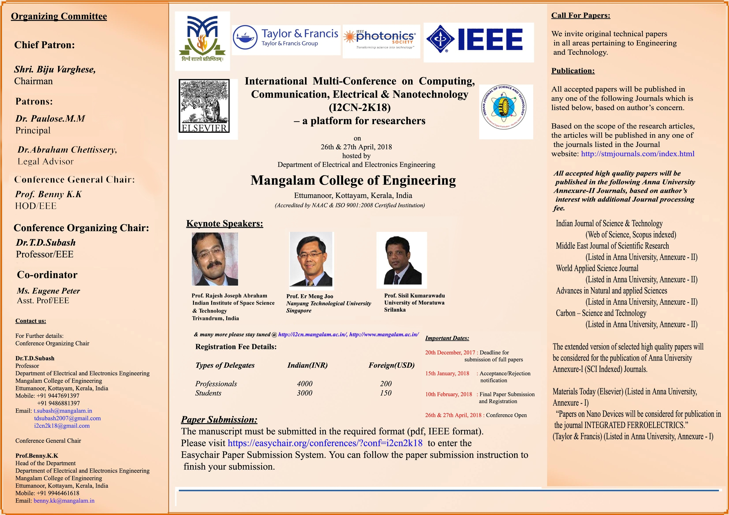 Apj Abdul Kalam Technological University Home Wiring System In India Brochure